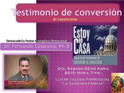 Proyección de video acerca del Testimonio de conversión de Ex- Pastor Evangélico Pentecostal